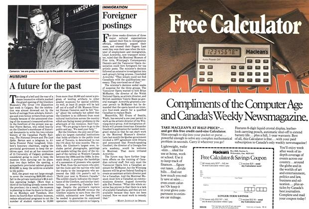 Article Preview: Foreigner postings, August 1983 | Maclean's