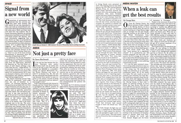 Article Preview: When a leak can get the best results, August 1983 | Maclean's