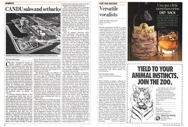 Article Preview: Versatile vocalists, August 1983 | Maclean's