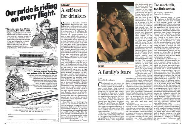 Article Preview: A family's fears, August 1983 | Maclean's