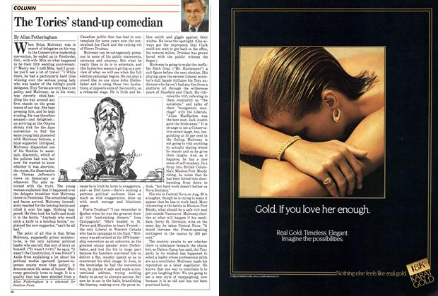 Article Preview: The Tories' stand-up comedian, August 1983 | Maclean's