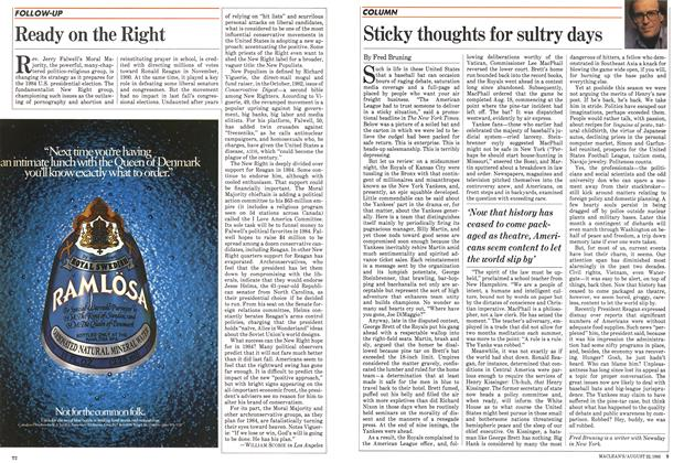 Article Preview: Sticky thoughts for sultry days, August 1983 | Maclean's