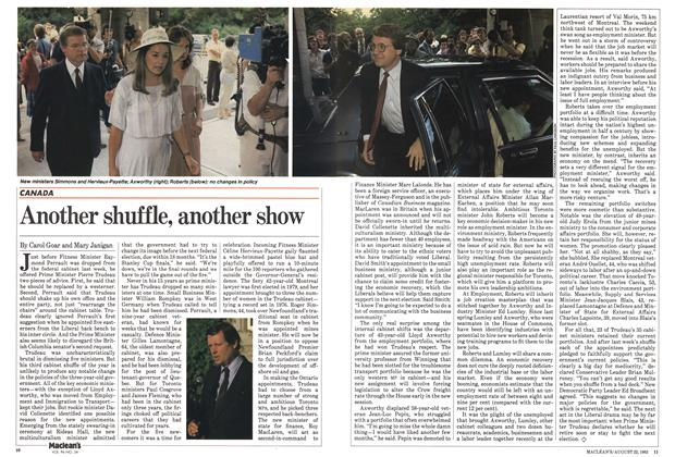 Article Preview: Another shuffle, another show, August 1983 | Maclean's
