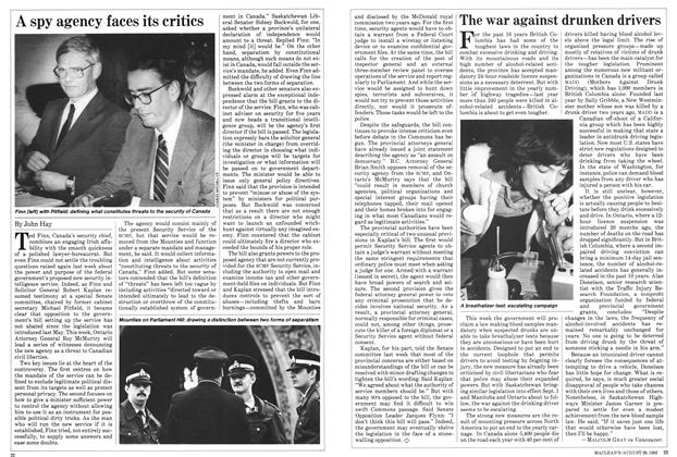 Article Preview: A spy agency faces its critics, August 1983 | Maclean's