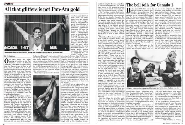 Article Preview: All that glitters is not Pan-Am gold, August 1983 | Maclean's