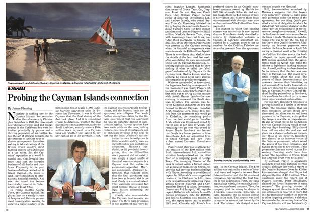 Article Preview: Probing the Cayman Islands connection, August 1983 | Maclean's