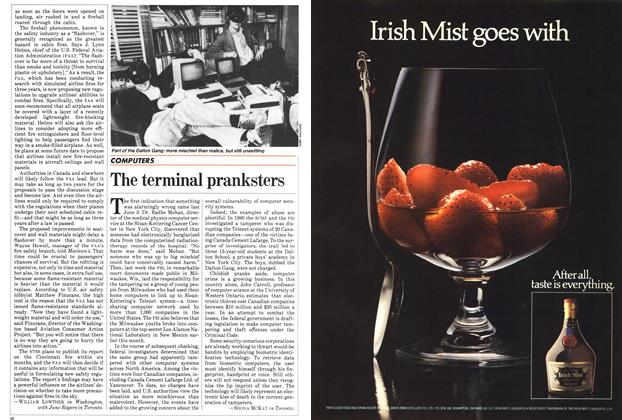 Article Preview: The terminal pranksters, August 1983 | Maclean's