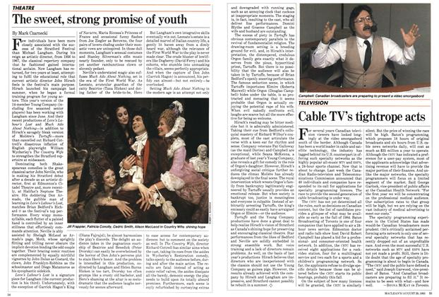 Article Preview: Cable TV's tightrope acts, August 1983 | Maclean's
