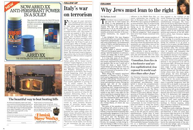Article Preview: Why Jews must lean to the right, August 1983 | Maclean's