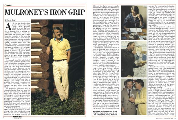 Article Preview: MULRONEY'S IRON GRIP, August 1983 | Maclean's