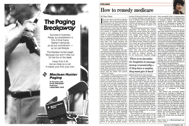 Article Preview: How to remedy medicare, September 1983 | Maclean's