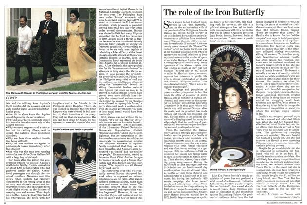 Article Preview: The role of the Iron Butterfly, September 1983 | Maclean's
