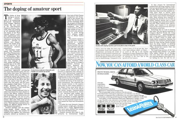 Article Preview: The doping of amateur sport, September 1983 | Maclean's