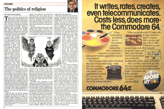 Article Preview: The politics of religion, September 1983   Maclean's