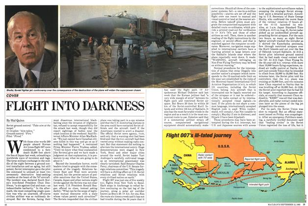 Article Preview: FLIGHT INTO DARKNESS, September 1983 | Maclean's