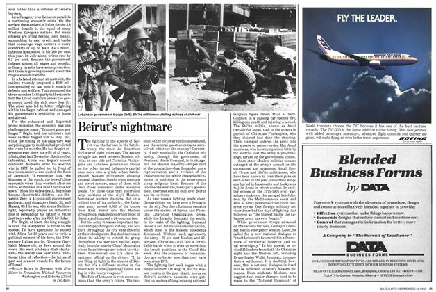 Article Preview: Beirut's nightmare, September 1983 | Maclean's