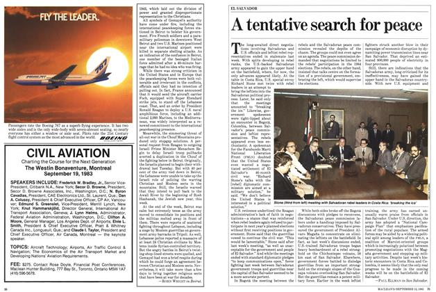 Article Preview: A tentative search for peace, September 1983 | Maclean's