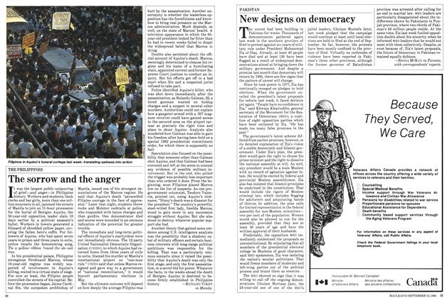 Article Preview: New designs on democracy, September 1983 | Maclean's