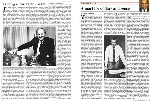 Article Preview: A mart for dollars and sense, September 1983 | Maclean's