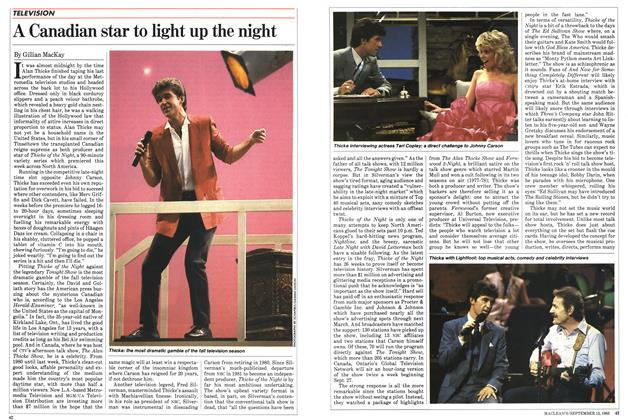 Article Preview: A Canadian star to light up the night, September 1983 | Maclean's