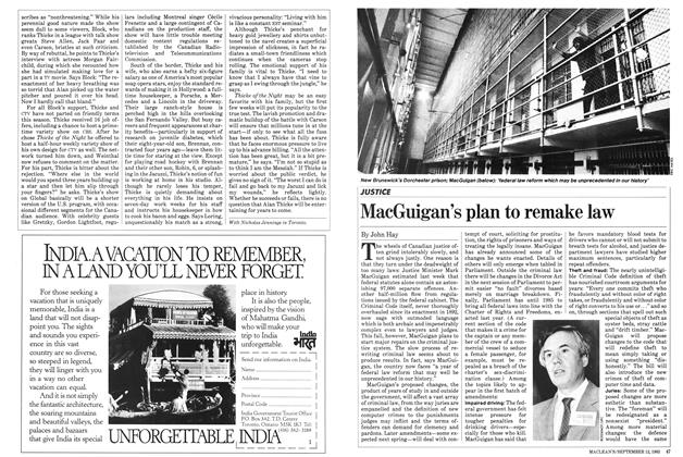 Article Preview: MacGuigan's plan to remake law, September 1983 | Maclean's