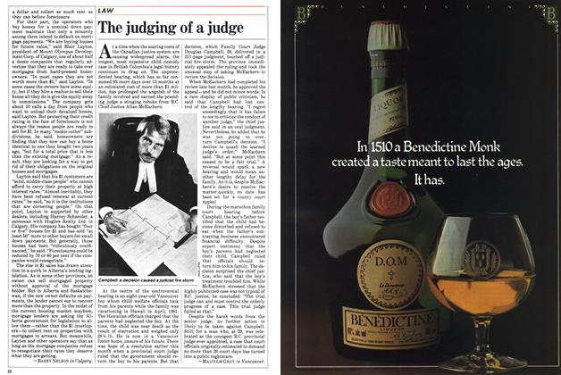 Article Preview: The judging of a judge, September 1983 | Maclean's
