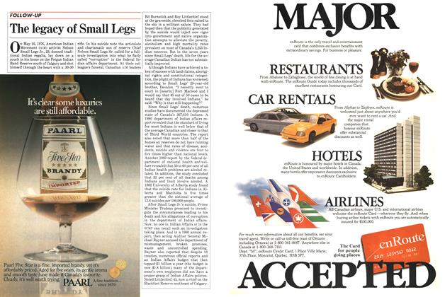 Article Preview: The legacy of Small Legs, September 1983 | Maclean's