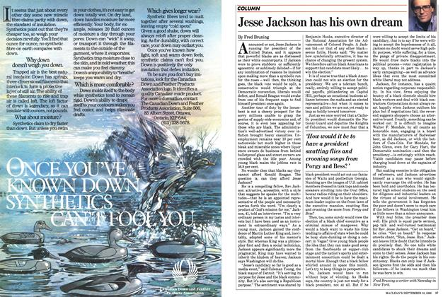 Article Preview: Jesse Jackson has his own dream, September 1983 | Maclean's