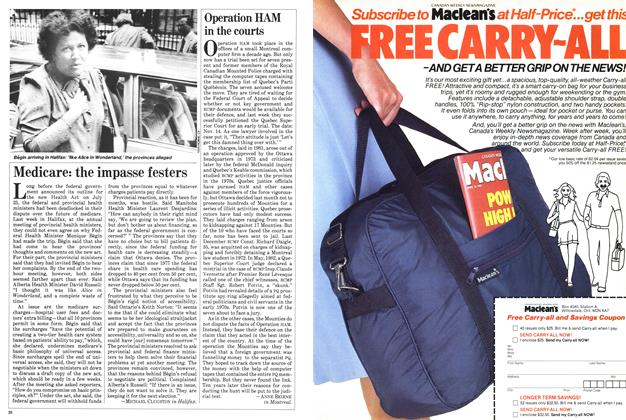 Article Preview: Medicare: the impasse festers, September 1983 | Maclean's