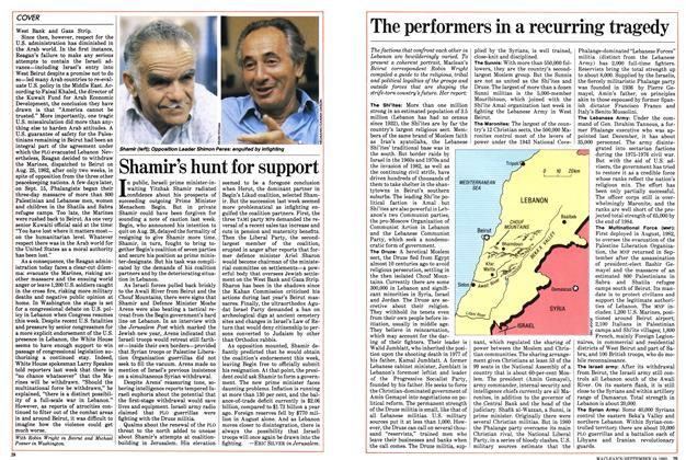 Article Preview: Shamir's hunt for support, September 1983   Maclean's