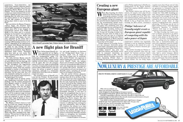 Article Preview: Creating a new European giant, September 1983 | Maclean's