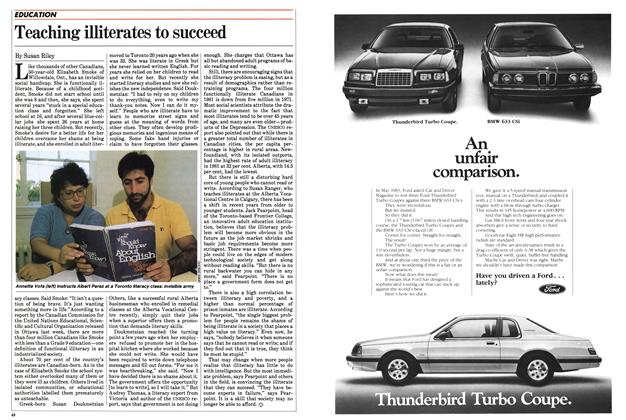 Article Preview: Teaching illiterates to succeed, September 1983 | Maclean's
