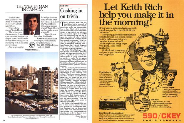 Article Preview: Cashing in on trivia, September 1983   Maclean's