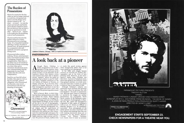 Article Preview: A look back at a pioneer, September 1983 | Maclean's
