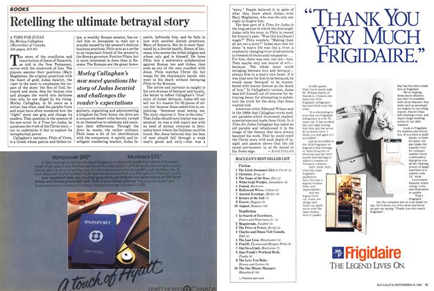 Article Preview: Retelling the ultimate betrayal story, September 1983 | Maclean's
