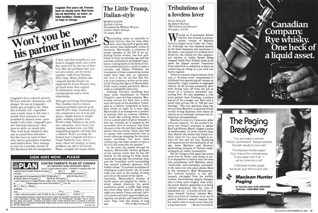 Article Preview: Tribulations of a loveless lover, September 1983 | Maclean's