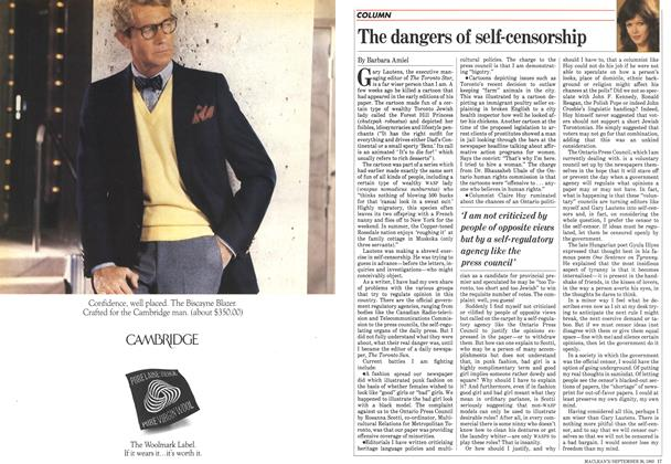 Article Preview: The dangers of self-censorship, September 1983 | Maclean's