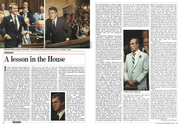 Article Preview: A lesson in the House, September 1983 | Maclean's