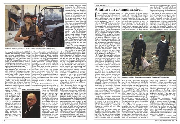 Article Preview: A failure in communication, September 1983 | Maclean's
