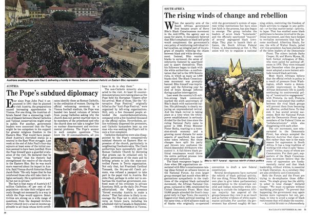 Article Preview: The Pope's subdued diplomacy, September 1983 | Maclean's