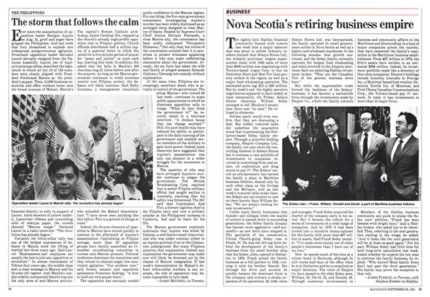 Article Preview: Nova Scotia's retiring business empire, September 1983 | Maclean's