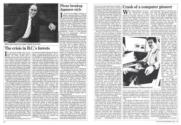 Article Preview: Crash of a computer pioneer, September 1983   Maclean's