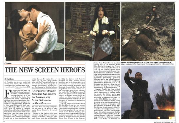 Article Preview: THE NEW SCREEN HEROES, September 1983 | Maclean's