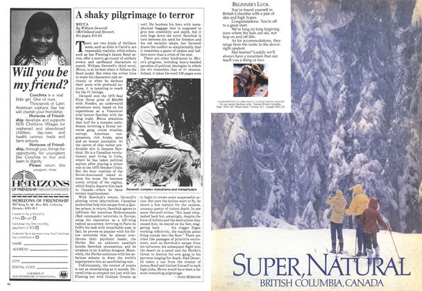 Article Preview: A shaky pilgrimage to terror, September 1983 | Maclean's