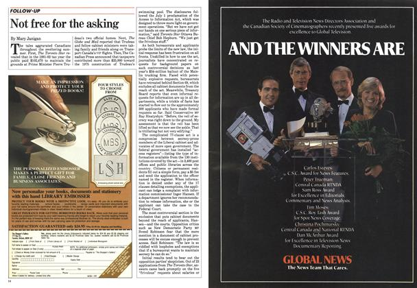 Article Preview: Not free for the asking, September 1983 | Maclean's