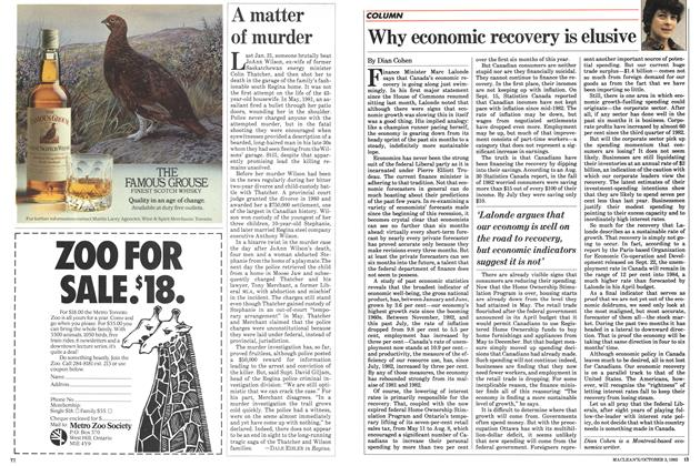 Article Preview: Why economic recovery is elusive, October 1983 | Maclean's