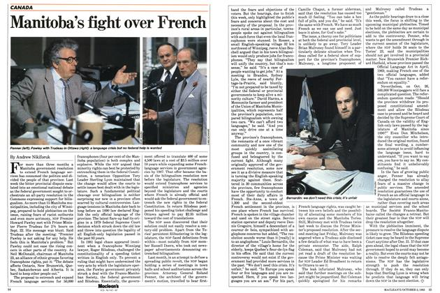 Article Preview: Manitoba's fight over French, October 1983 | Maclean's