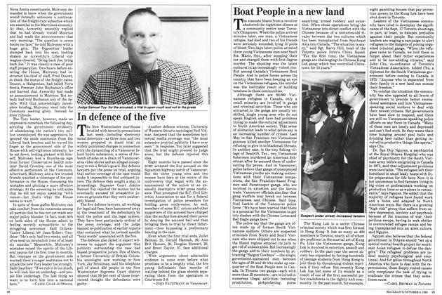 Article Preview: In defence of the five, October 1983 | Maclean's