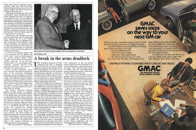 Article Preview: A break in the arms deadlock, October 1983 | Maclean's