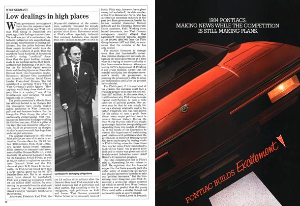 Article Preview: Low dealings in high places, October 1983 | Maclean's